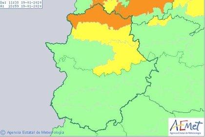 Aemet amplía los avisos por fuerte vientos a buena parte de la provincia de Cáceres hasta el lunes