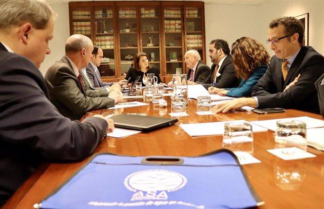 La consejera de Agricultura, Ganadería, Pesca y Desarrollo Sostenible, Carmen Crespo, reunida con ASA Andalucía
