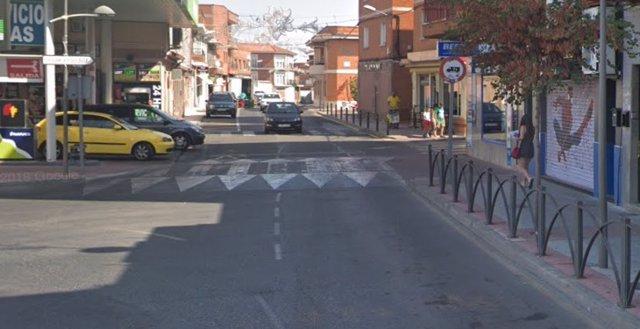 Calle Ramón y Cajal de Fuensalida.