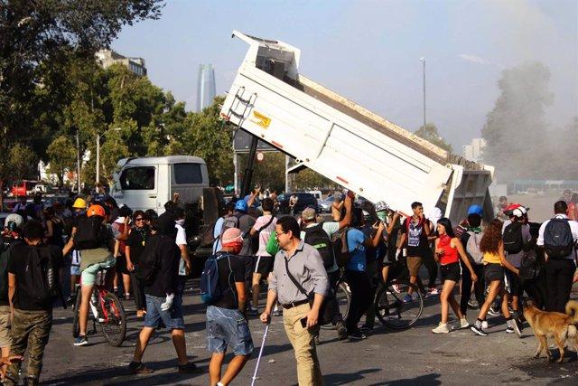 Imatge d'una protesta a Xile.