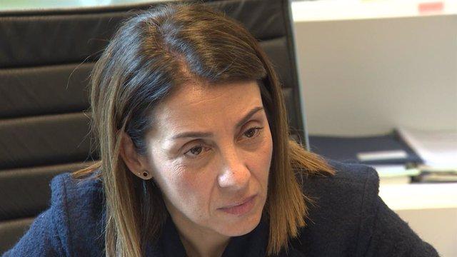 La portaveu del Govern i consellera de la Presidncia, Meritxell Budó, en una entrevista a Europa Press el 19 de gener del 2010 al Palau de la Generalitat a Barcelona