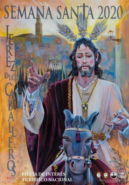 La imagen del Cristo del Triunfo protagoniza el cartel de la Semana Santa de Jerez de los Caballeros 2020