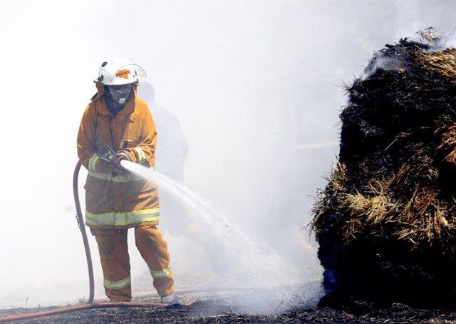 Imatge d'un bomber a Austràlia.
