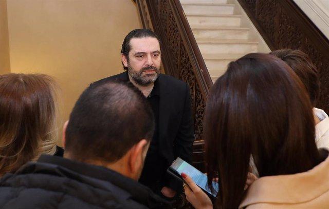 El primer ministro en funciones de Líbano, Saad Hariri.