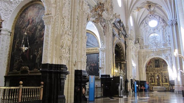 Interior de la catedral de la Seo de Zaragoza.