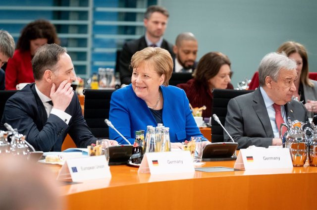 Angela Merkel i el secretari general de l'ONU, António Guterres.