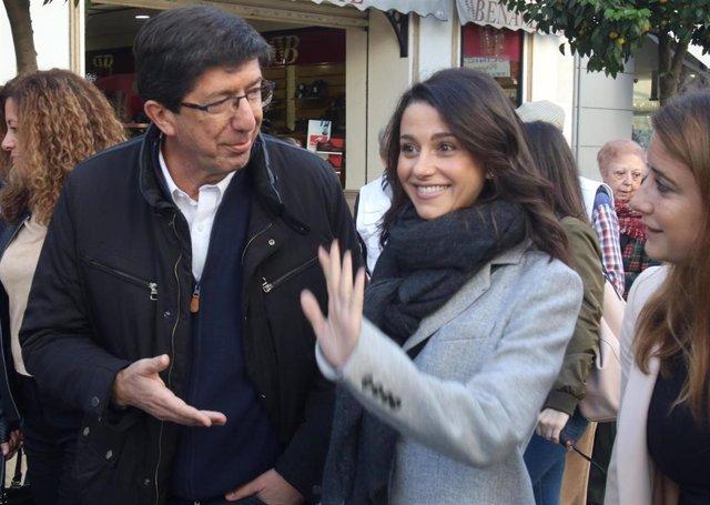 Juan Marín e Inés Arrimadas en una imagen de archivo