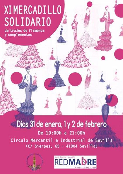 Redmadre Sevilla celebrará su XI Mercadillo solidario de trajes de flamenca hasta el 2 de febrero