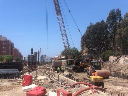 Las obras de integración del ferrocarril en Almería obligan al desvío del tráfico en El Puche desde este lunes