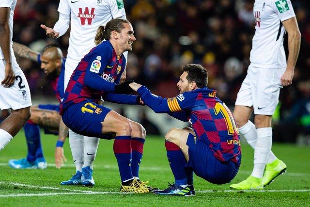 Fútbol/Pichichi.- Messi hace el primer gol del Barça de Setién