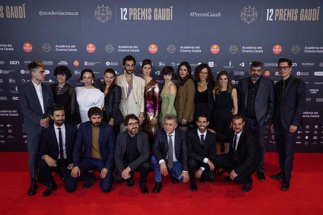 L'equip de 'La filla d'un lladre en els XII Premis Gaudí de l'Acadèmia del Cinema Català
