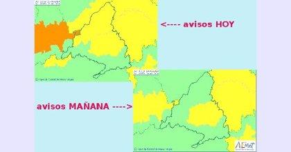 La AEMET amplía a este lunes el aviso amarillo por viento a Henares y zona Metropolitana