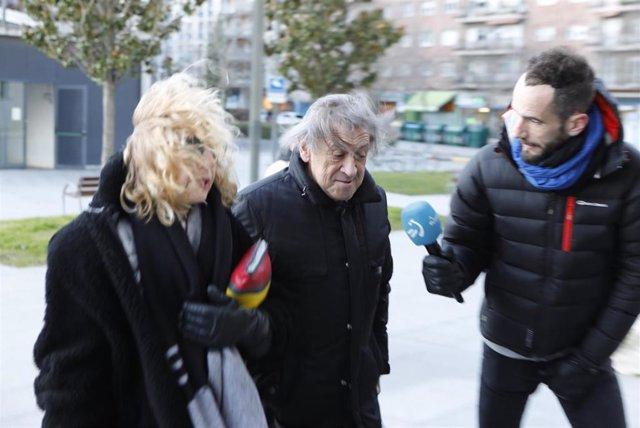 El expresdiente de Osasuna Miguel Archanco, a su llegada al Palacio de Justicia de Pamplona por el juicio del 'caso Osasuna'.