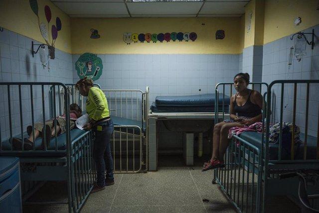 Una de las clínicas con pacientes de malaria en Venezuela