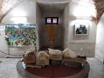 Mujeres del Valle del Ambroz exponen en el Museo Etnográfico de Plasencia un tapiz elaborado por ellas con lana