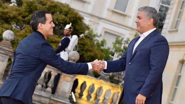 Reunión entre Juan Guaidó e Iván Duque en Bogotá