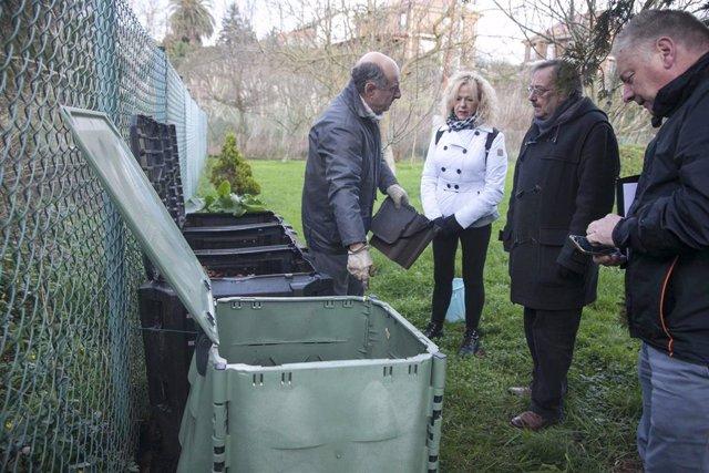 Visitas a participantes en campañas de compostaje doméstico de Camargo