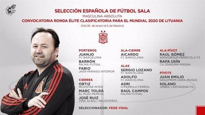 Fede Vidal cita a 15 jugadores para buscar el billete para el Mundial de Lituania