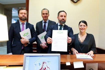 Vox registra una ley en el Congreso para ilegalizar a ERC, Junts, Bildu y la CUP