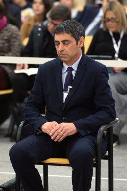 L'exmajor dels Mossos d'Esquadra, Josep Lluís Trapero, durant la primera jornada del judici en qu se l'acusa de rebellió pels fets que van tenir lloc l'1-O, a l'Audincia Nacional, Madrid /Espanya, 20 de gener del 2020.