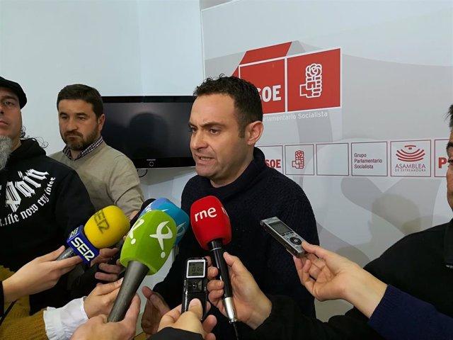 El secretario de Hacienda y Financiación del PSOE extremeño, Jorge Amado