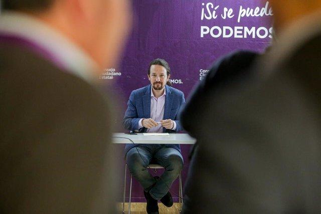 El secretari general de Podem i vicepresident de Drets Socials i Agenda 2030 del Govern central, Pablo Iglesias, en la reunió del Consell Ciutad Estatal (CCE), Madrid (Espanya), 17 de gener del 2020.