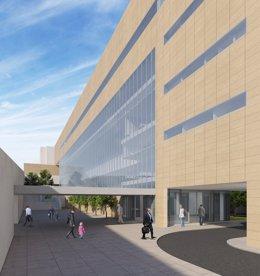Recreación del nuevo edificio de consultas externas de Torrecárdenas.