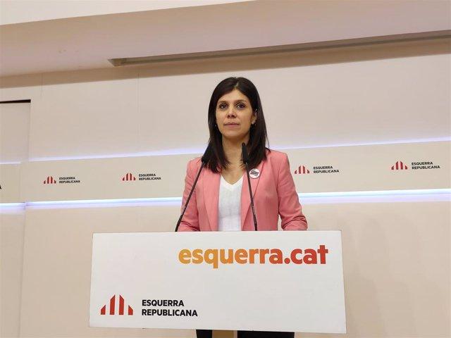 La secretaria general adjunta y portavoz de ERC, Marta Vilalta, en rueda de prensa el 20 de enero de 2020.