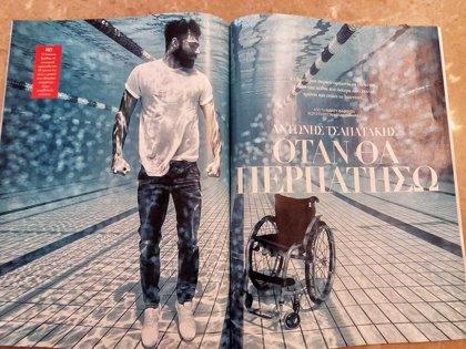 El poder del agua: La fotografía del nadador paralímpico Antonis Tsapatakis por Nicholas Samaras que vuelve a ser viral