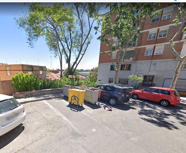 Plaza de Santa Teresita de Madrid, lugar donde se produjo el apuñalamiento a una mujer por parte de su marido