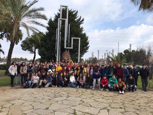 Alumnos de Rociana del Condado abren la XV edición del Campus de la Energía de la Fundación Cepsa.