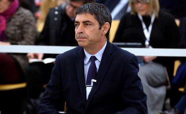 El exmayor de los Mossos d'Esquadra, Josep Lluís Trapero, durante la primera jornada del juicio en el que se le acusa de rebelión,