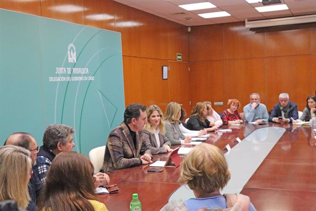 Reunión de la Junta de Andalucía con los representantes de las asociaciones contra las adicciones de Cádiz