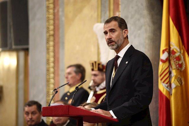 El Rey preside el acto formal de Apertura de la XII Legislatura