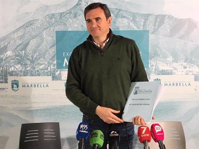 El portavoz del equipo de gobierno de Marbella (Málaga), Félix Romero