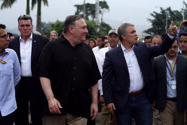 El secretario de Estado de Estados Unidos, Mike Pompeo, y el presidente de Colombia, Iván Duque (Imagen de archivo)