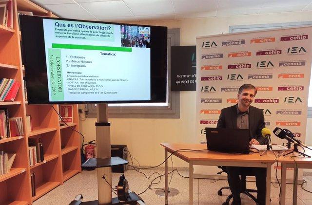 El director del Centre de Recerca Sociolgica d'Andorra, Joan Micó.