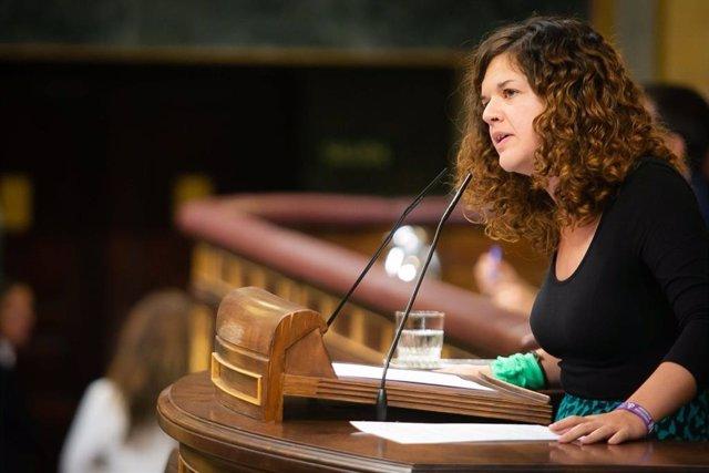 La portavoz adjunta de Unidas Podemos, Sofía Castañón