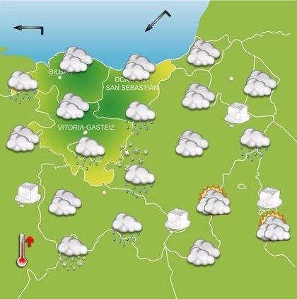 Mucho frío a primeras horas del martes, con posibilidad de nieve por la mañana en la mitad sur de Euskadi