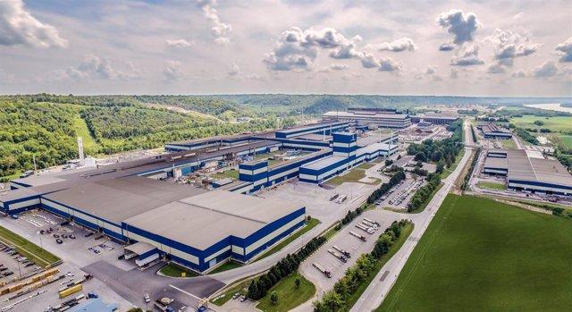 Foto aérea de la fábrica de Acerinox en North American Stainless (Kentucky, EEUU)