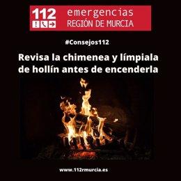 Cartel con consejos del Centro de Coordinación de Emergencias respecto al uso de la calefacción
