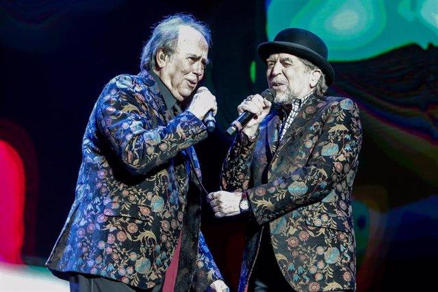 Los cantantes Joaquín Sabina y Joan Manuel Serrat actúan en el WiZink Center de Madrid el 20 de enero del 2020.