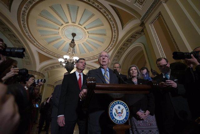 El líder de la mayoría republicana en el Senado de Estados Unidos, Mitch McConnell.
