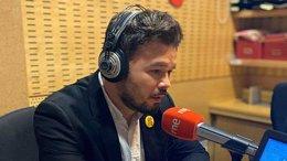 Entrevista al portavoz de ERC en el Congreso de los Diputados, Gabriel Rufián
