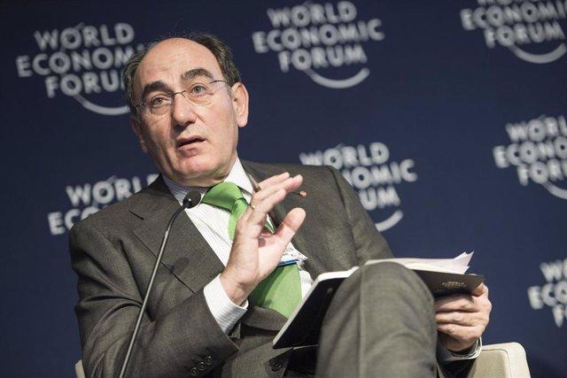 El presidente de Ibedrola, Ignacio Galán, en Davos