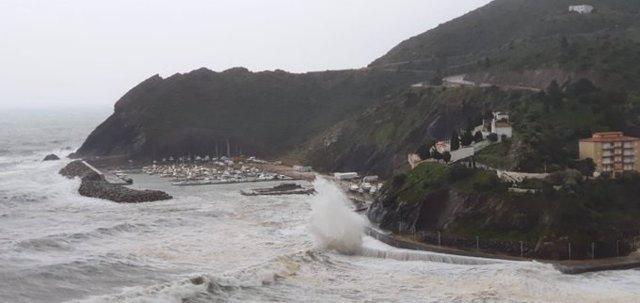 Temporal causat per la borrasca Glria a la costa catalana