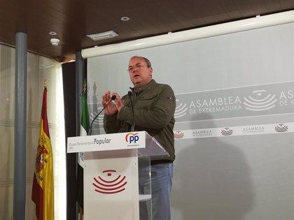 """Monago pide a Vara que retire o corrija los PGEx por """"no acomodarse"""" los gastos a las previsiones de crecimiento"""