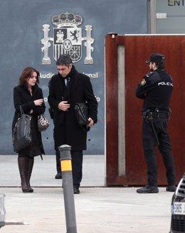 L'exmajor dels Mossos d'Esquadra, Josep Lluís Trapero, en el recés de la primera jornada del judici en el qual se l'acusa de rebel·lió, per l'1-O a l'Audiència Nacional, Madrid /Espanya, 20 de gener del 2020.