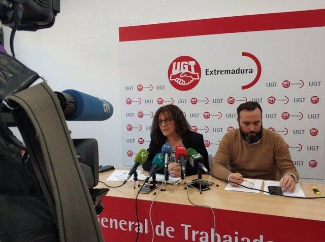 La secretaria general de UGT Extremadura, Patro Sánchez