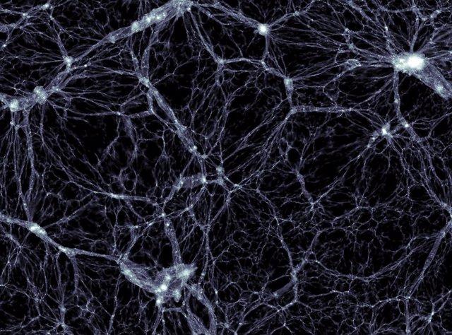 Vacíos cósmicos entre las estructuras que establecer conexiones entre las galaxias